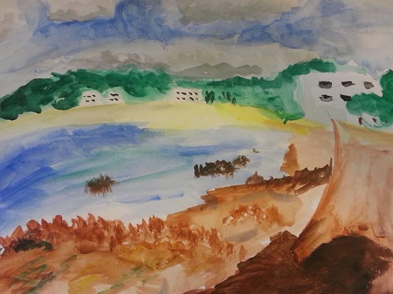 Isobel painting