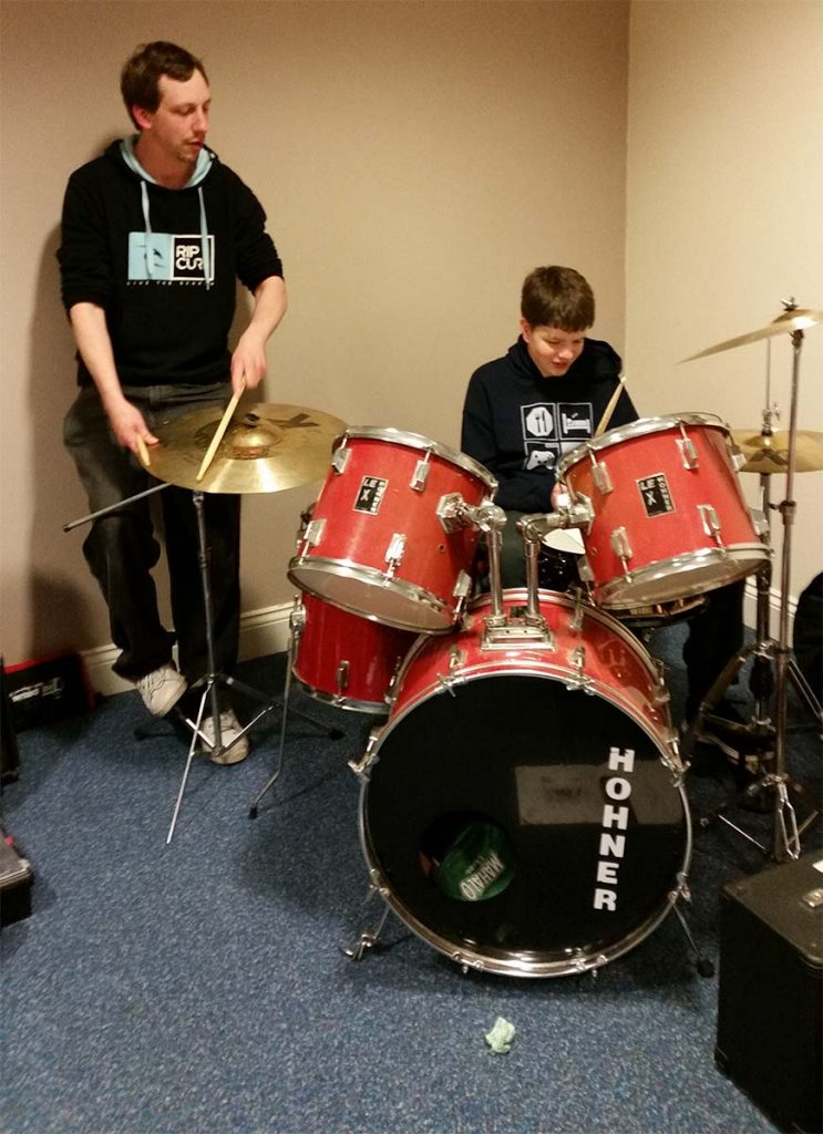 drumming lesson