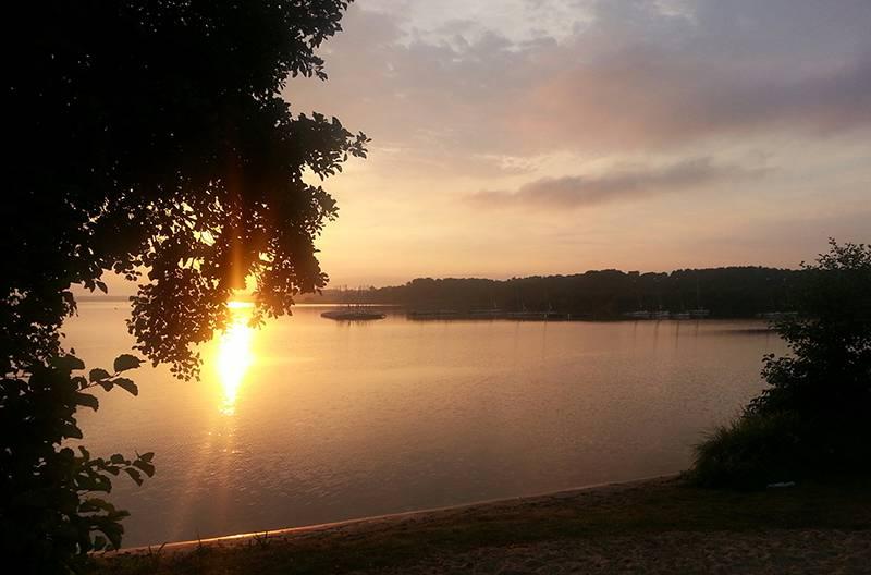 Rockley lake sunset